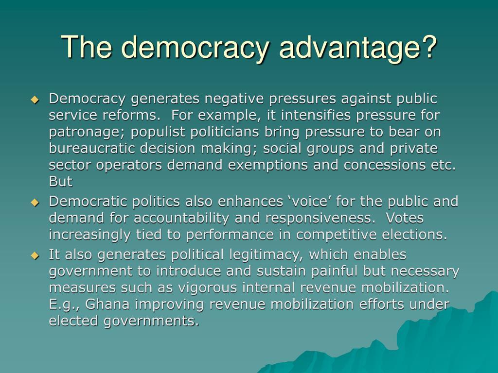 The democracy advantage?
