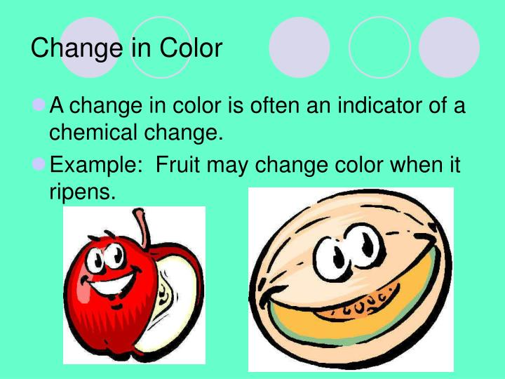Change in Color