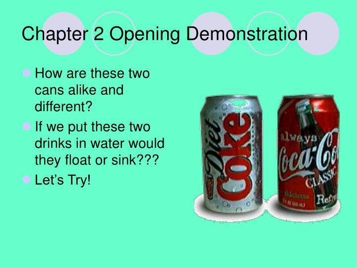 Chapter 2 opening demonstration