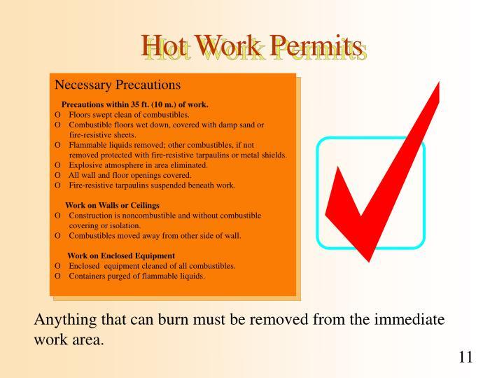 Ppt Hot Work Permits Powerpoint Presentation Id 1126865