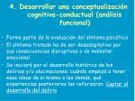4 desarrollar una conceptualizaci n cognitiva conductual an lisis funcional