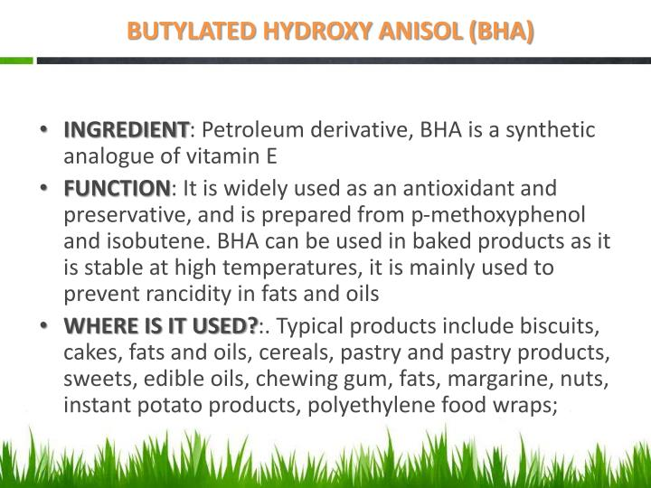 BUTYLATED HYDROXY ANISOL (BHA)