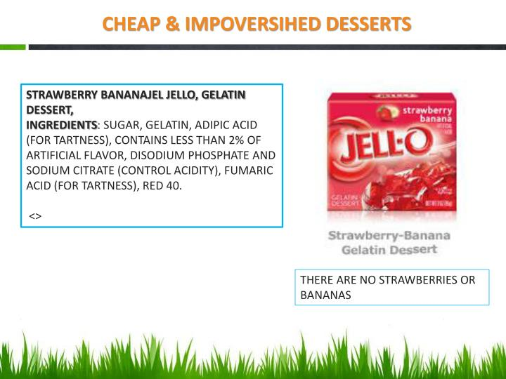 CHEAP & IMPOVERSIHED DESSERTS
