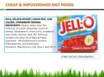 cheap impoversihed diet foods