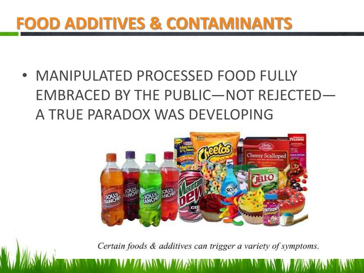 FOOD ADDITIVES & CONTAMINANTS