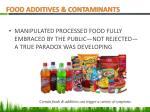 food additives contaminants