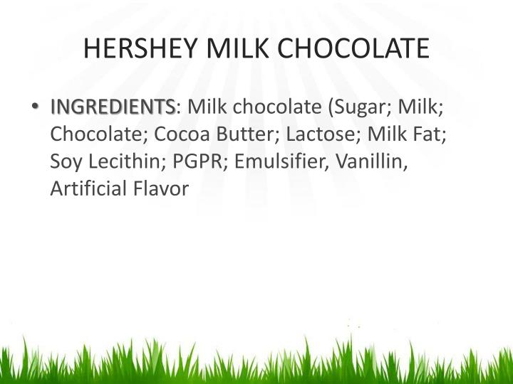 HERSHEY MILK CHOCOLATE