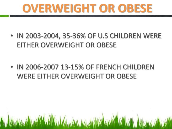 OVERWEIGHT OR OBESE