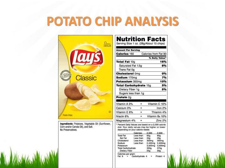 POTATO CHIP ANALYSIS