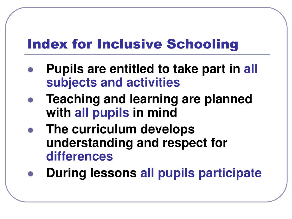 Index for Inclusive Schooling