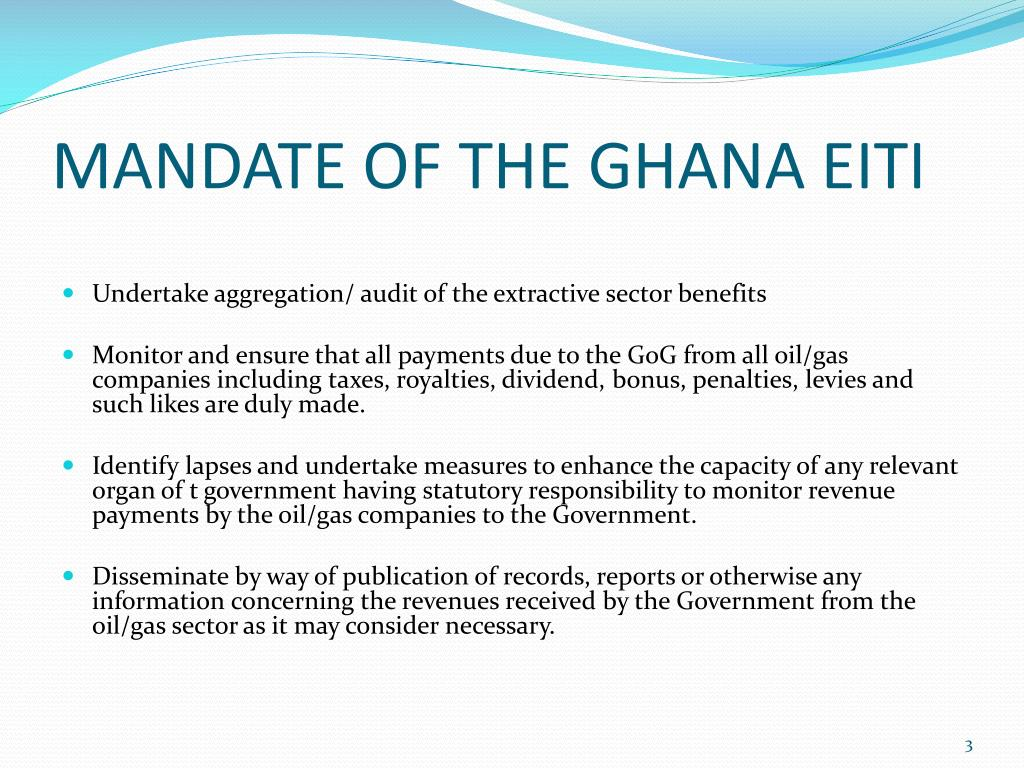 MANDATE OF THE GHANA EITI