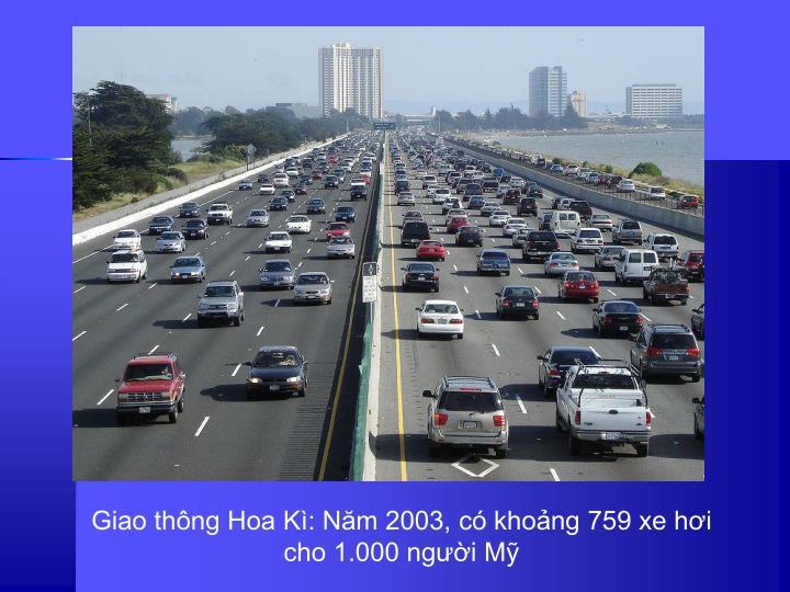 Giao thng Hoa K: Nm 2003,