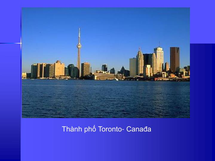 Thnh ph Toronto- Canaa