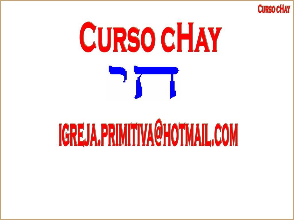 Curso cHay