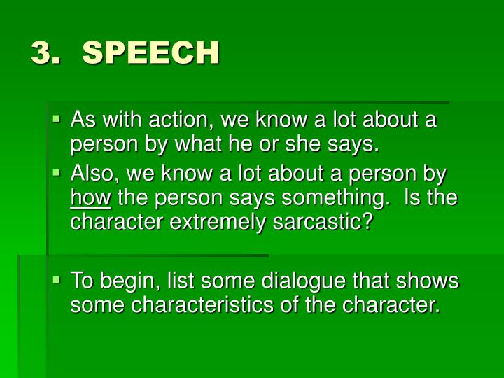 3. SPEECH