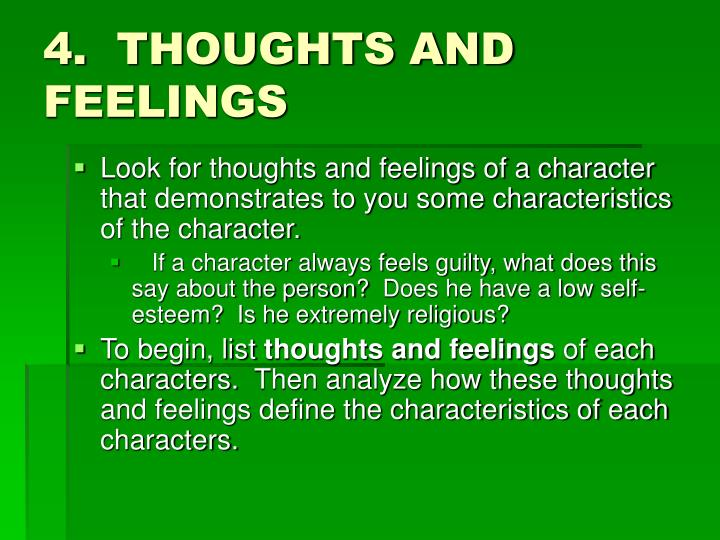 4.  THOUGHTS AND FEELINGS