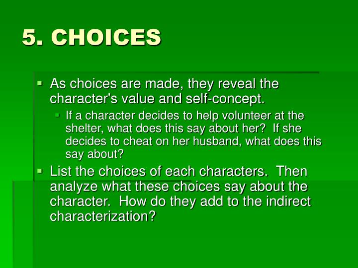 how to write a character analysis