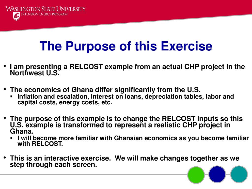 The Purpose of this Exercise