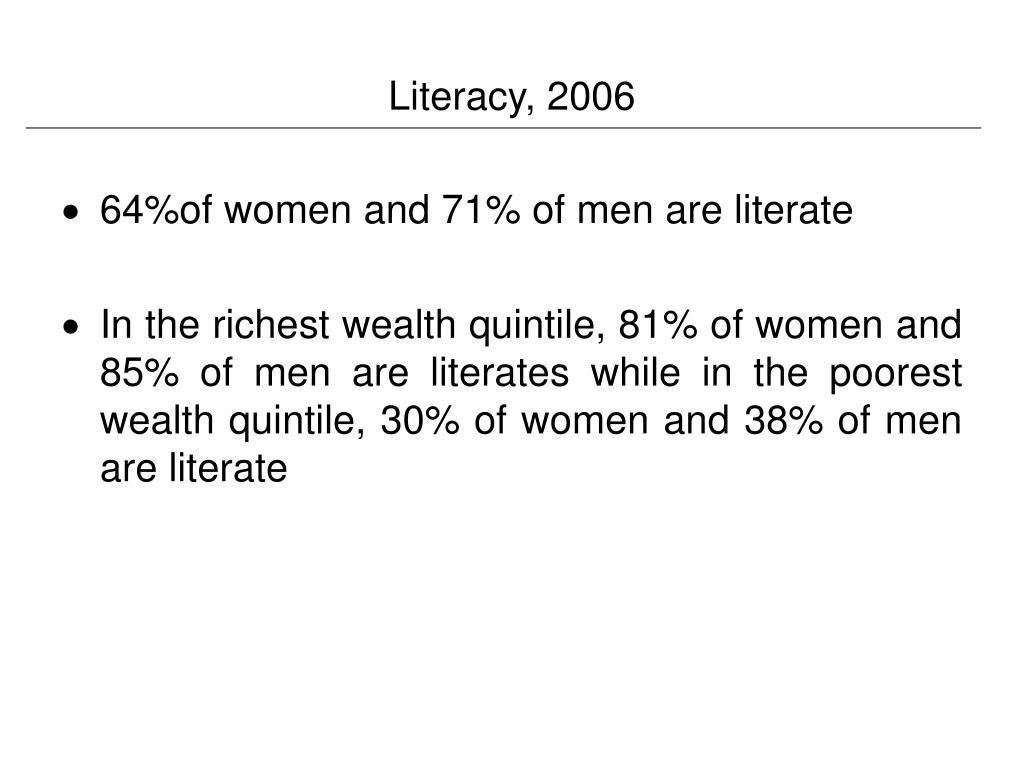 Literacy, 2006