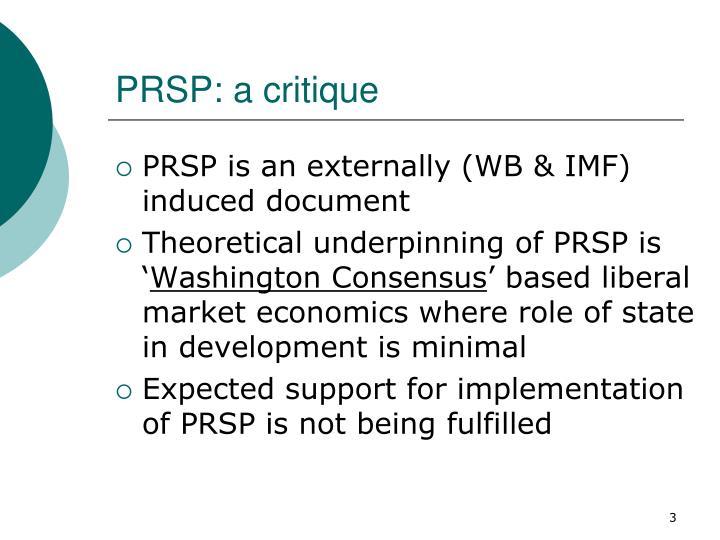 PRSP: a critique