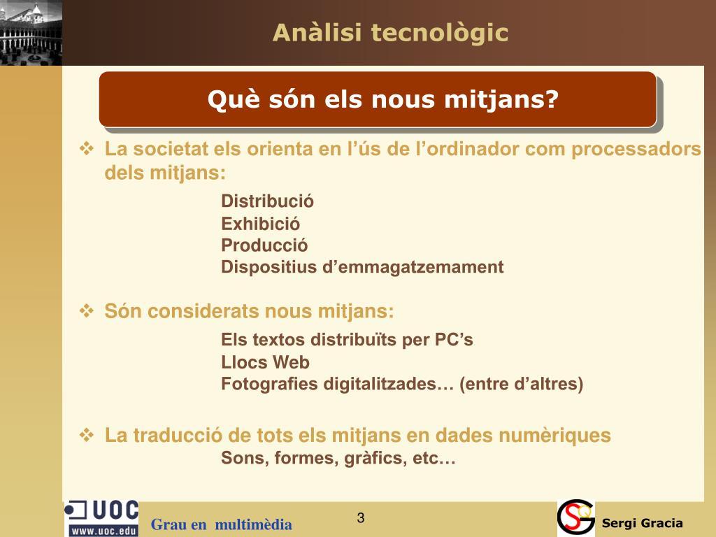 Anàlisi tecnològic
