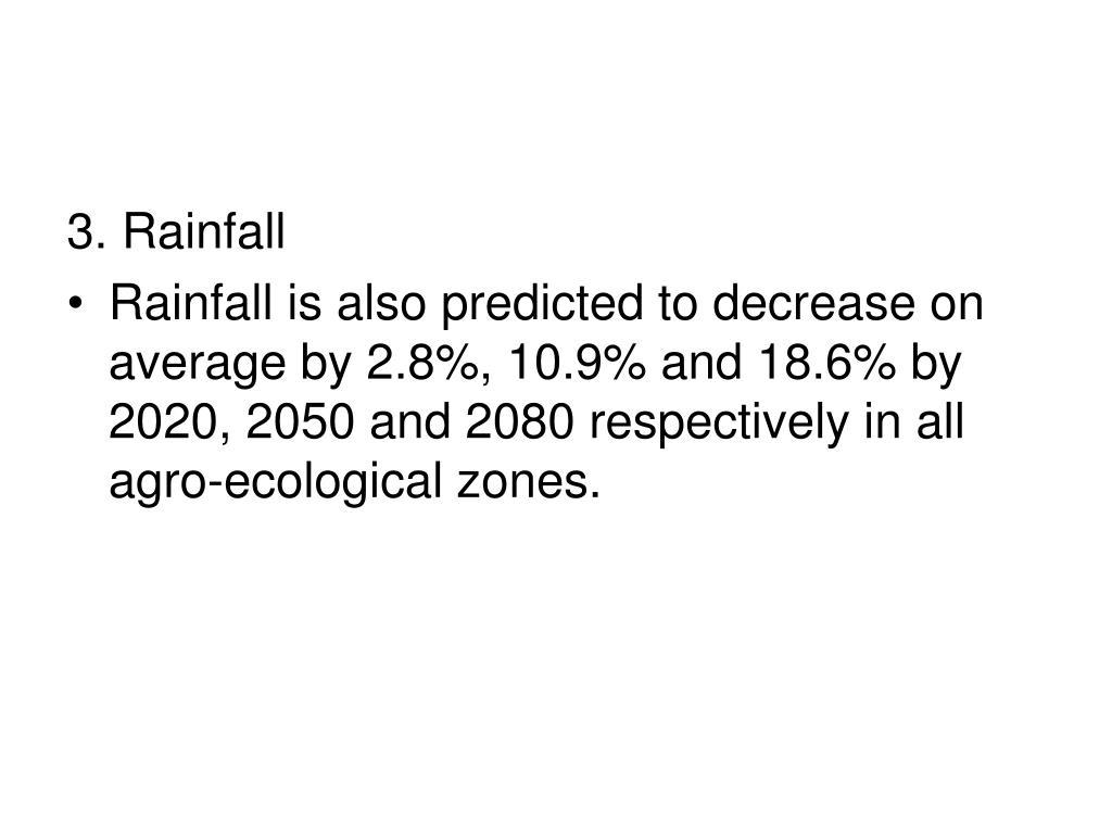 3. Rainfall