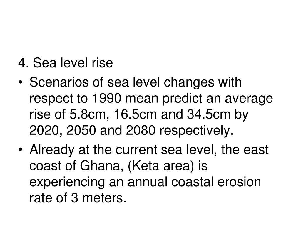 4. Sea level rise
