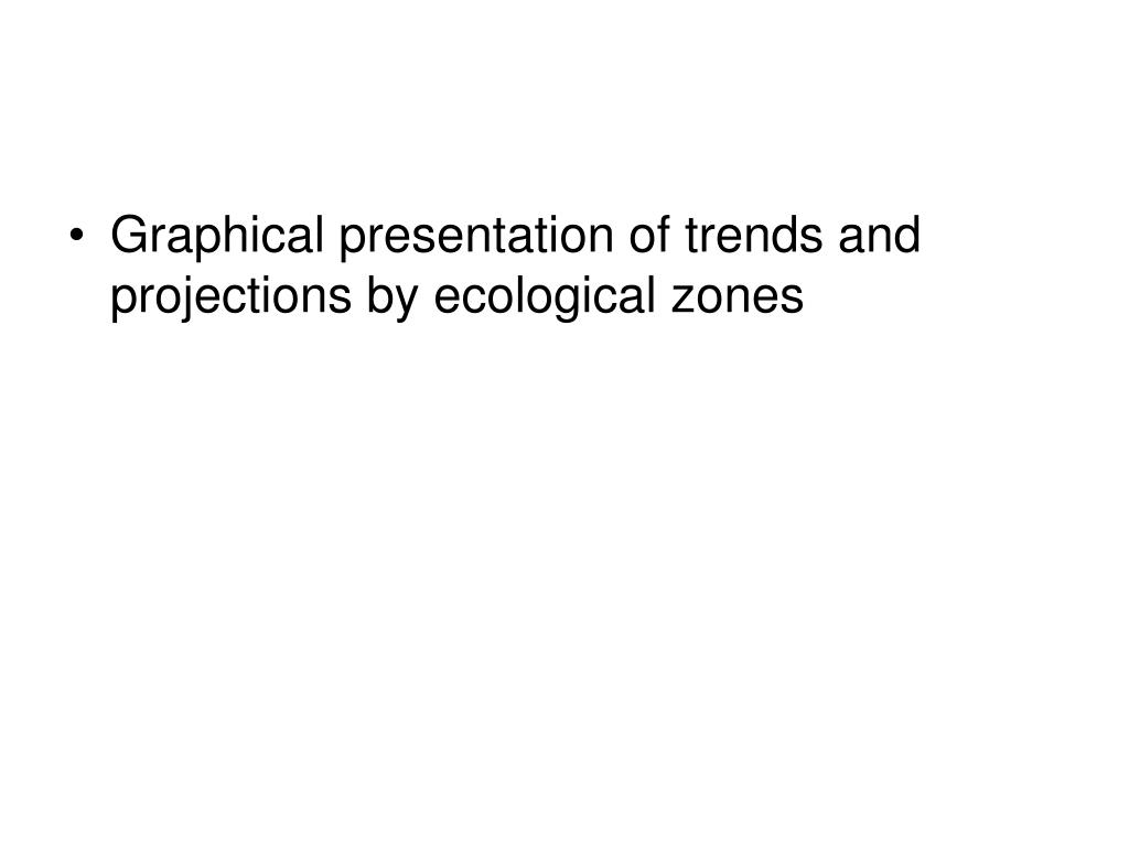 Graphical presentation of trends and projections by ecological zones