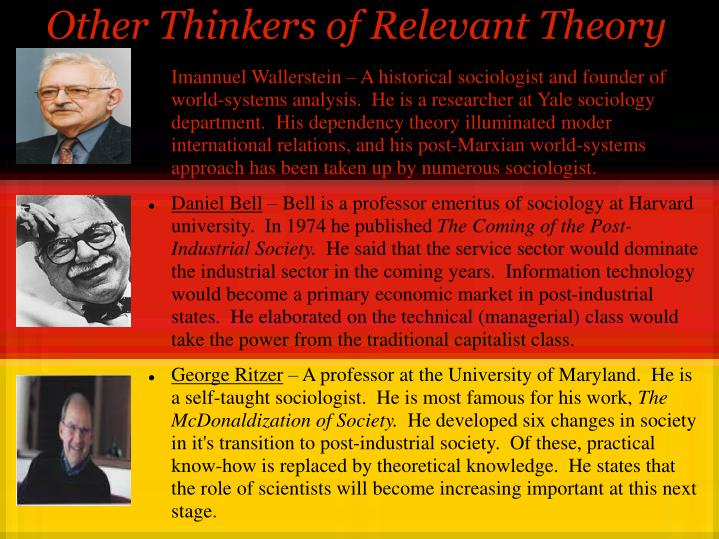 Other Thinkers of Relevant Theory