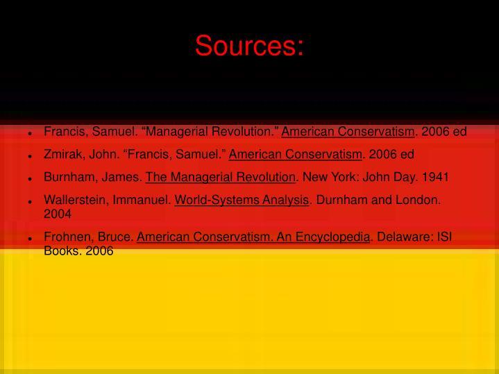 Sources: