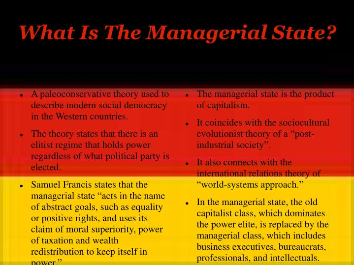 What is the managerial state