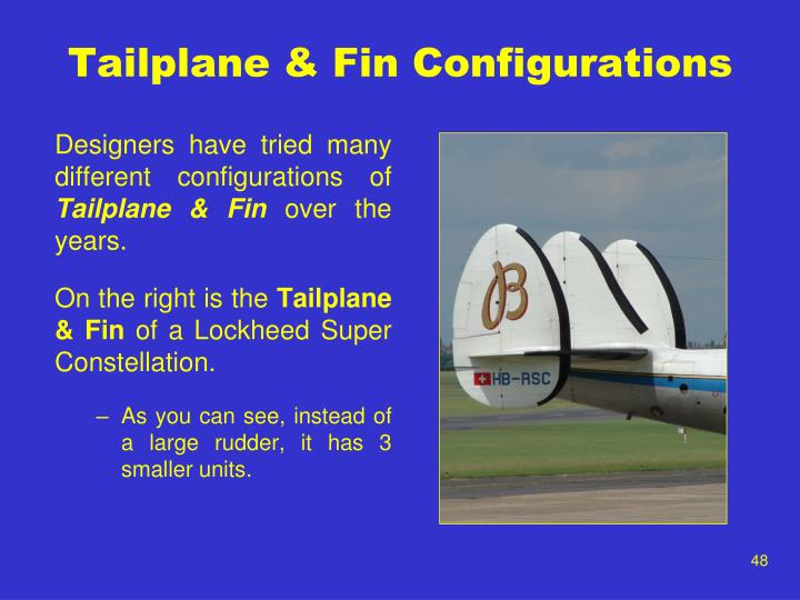 Tailplane & Fin Configurations