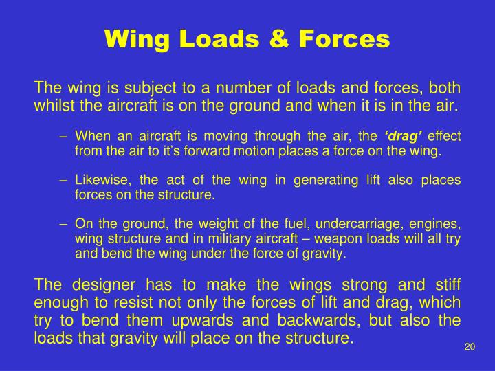 Wing Loads & Forces
