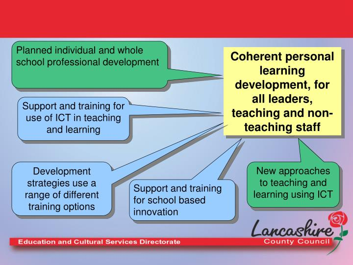 Planned individual and whole school professional development