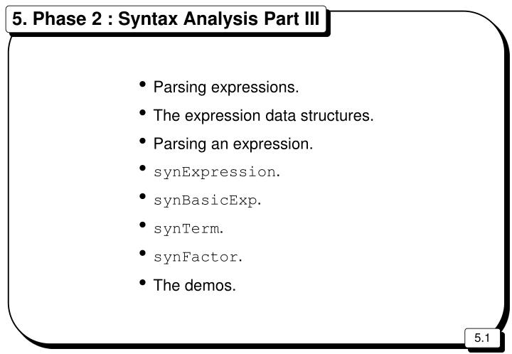 5 phase 2 syntax analysis part iii