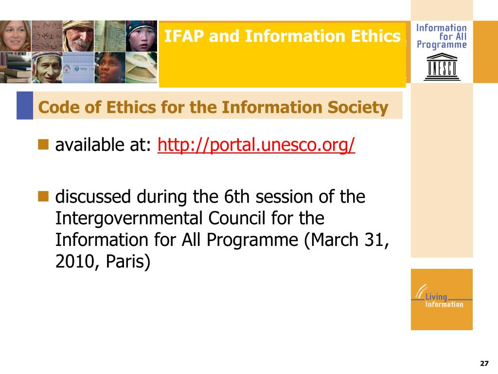 IFAP and Information Ethics