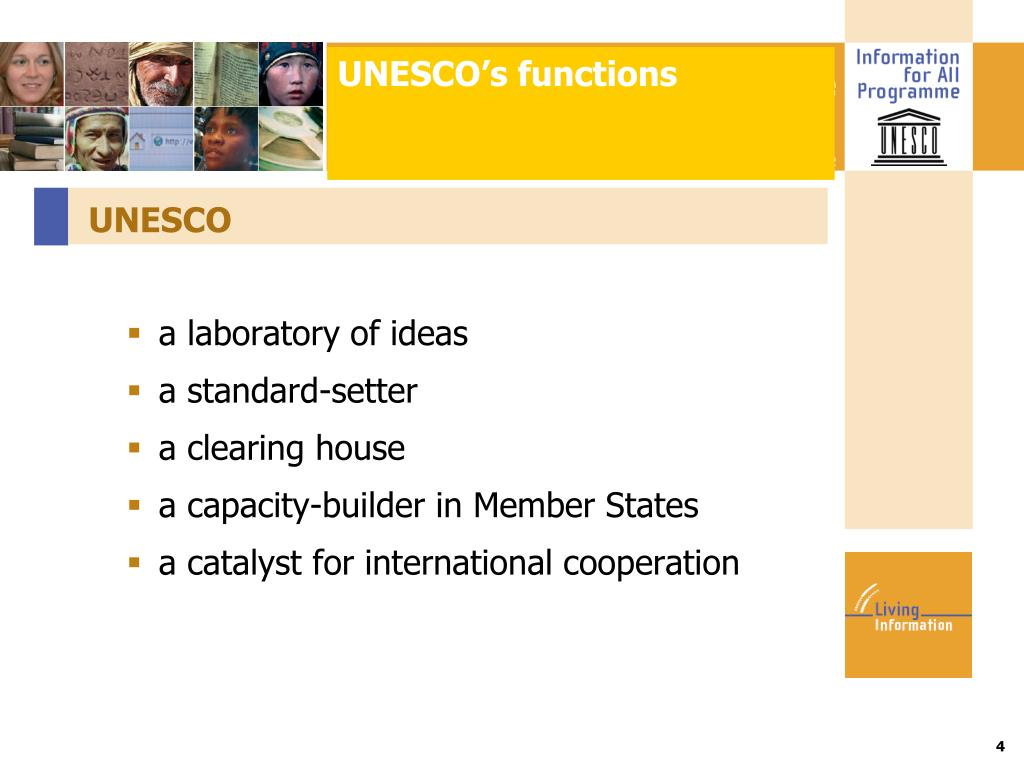 UNESCO's functions