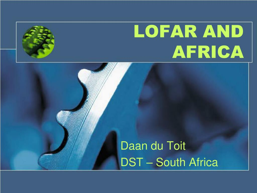 LOFAR AND AFRICA