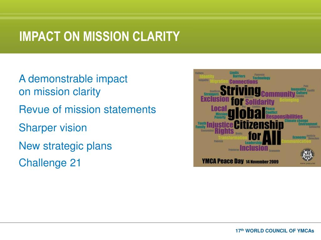IMPACT ON MISSION CLARITY