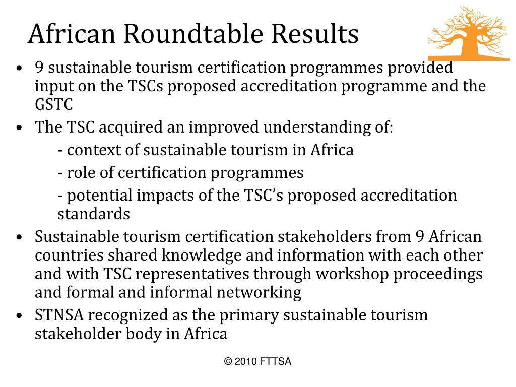 African Roundtable Results