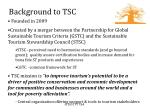background to tsc
