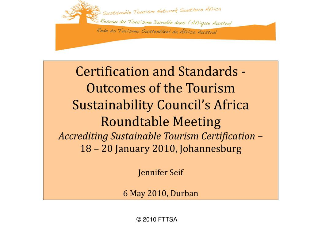Certification and Standards -