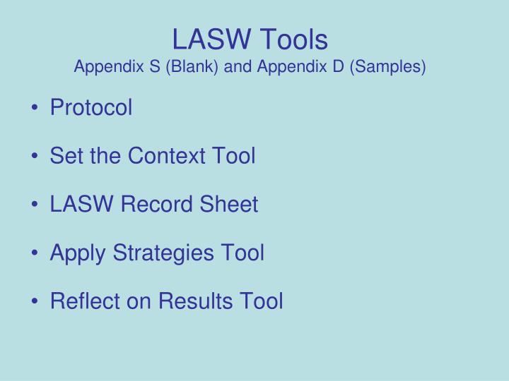 LASW Tools