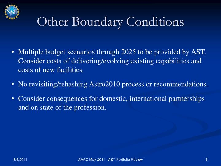 Other Boundary Conditions