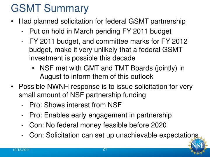 GSMT Summary