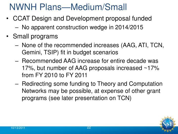NWNH Plans—Medium/Small