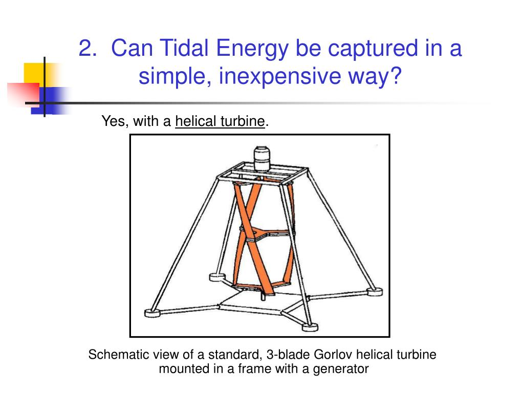 2.  Can Tidal Energy be captured in a simple, inexpensive way?