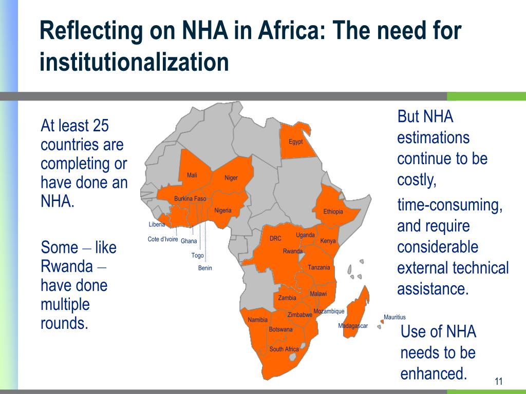 Reflecting on NHA in Africa: The need for institutionalization