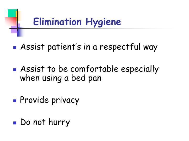 Elimination Hygiene