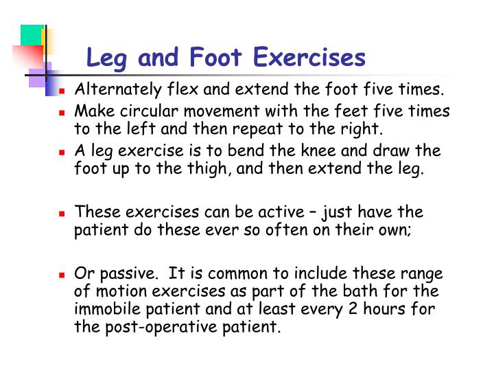 Leg and Foot Exercises